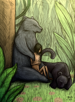 Lazy afternoon - Jungle Book by Super-kip
