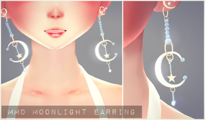 [MMD] Moonlight Earrings Download! by AyaneFoxey