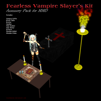 MMD Fearless Vampire Slayer's Kit by Trackdancer