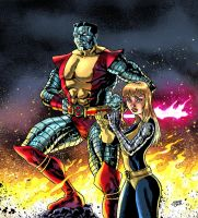Colossus and Magik by sonicboom35