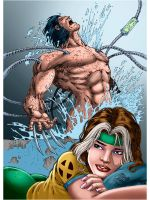 Rogue and Weapon X_Colors 02 by Troianocomics