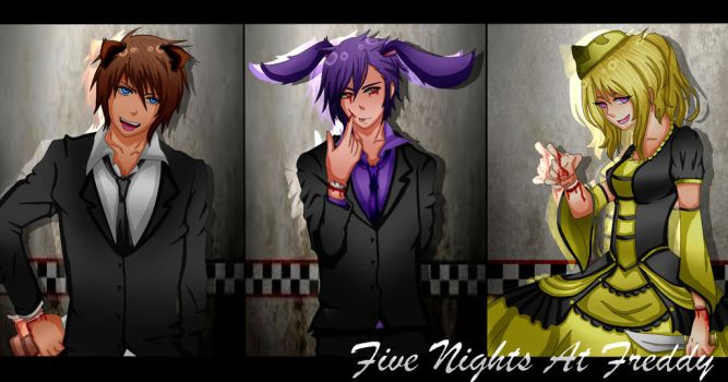 Five Nights At Freddy Humanized by Shiningstarlight14