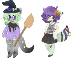 halloween adopt collab OPEN by viixens
