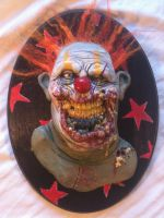 fire hair zombie clown by UglyBabyEater