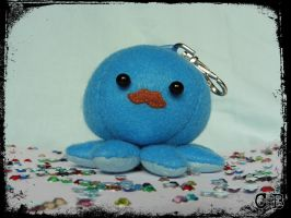 Mustache Octopus Keyring by TheChgz