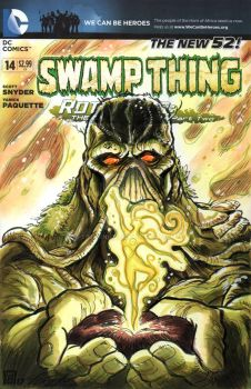Swamp Thing Sketch Cover by timshinn73