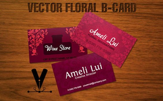 Vector Floral B-Card by downloadfreevector