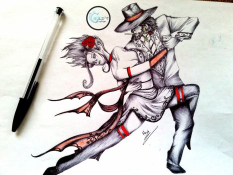 Final- Twisted Fate and Evelynn -League of Legends by Caold