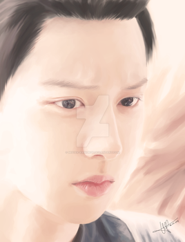 [DIGITAL PAINTING] ChanYeol 2 by Mister-Raindrop