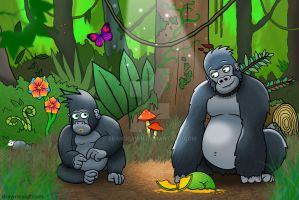 Gorilla and Son by SeanDrawn