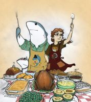 Thanksgiving Yet Again by RobtheDoodler
