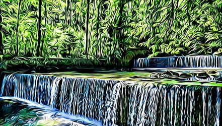 The Cascades of the Areuse-Digitalized by Lambieb123
