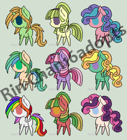 .:ADOPTS:. 10 Point MLP Adopts - Sheet 1 by Rin-Chan16Adoptables