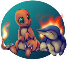 Pokemon - Charmander and Cyndaquil