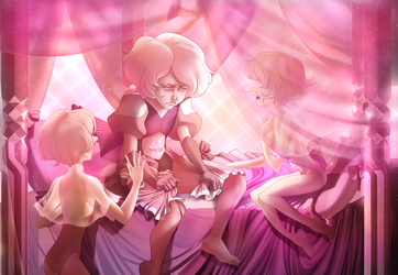Pink Diamond and her Pearls by skyrore1999
