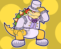Dapper Diapered Bowser by RhodyTheGliscor