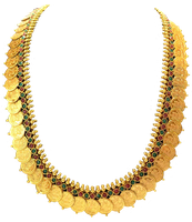 Gold Coin Necklace by Lokilanie