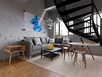 Blender Architectural Render - Living Room 2 by plaz-3D