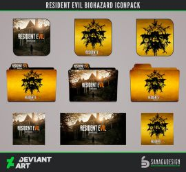 Resident Evil Biohazard Icons pack by SanagaDesign