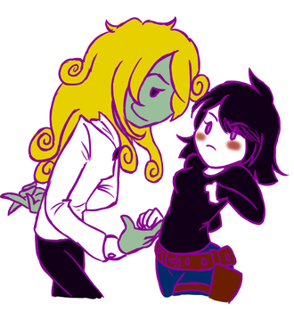 Ms. Masquerade and Victoria by applejuiceboxmonster