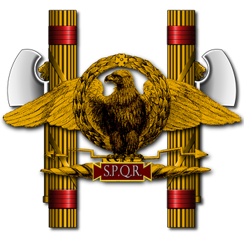 Imperial Roman Eagle with Fasces - Peter Crawford by PeterCrawford