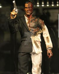 Completed 1:12  Two Face figure(full body) by PlasticSurgen