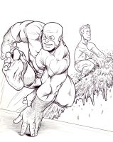 Beast and Iceman - inks by NMRosario