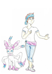 Pokemon OC: John and Sylveon REBOOT by Boo-mite