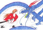 Fight Against Dragon - Kenshin Himura (Request) by ALittleLady