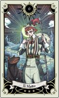 Tarot card 0- the Fool by rann-poisoncage