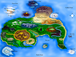 Map of the Dragon Lands by Seeraphine
