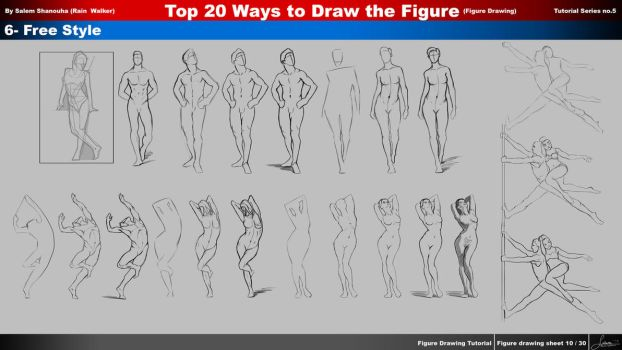 Top 20 ways to draw the figure Ch. 6- Free Style by rainwalker007