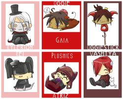 Gaia plooshies by evikted