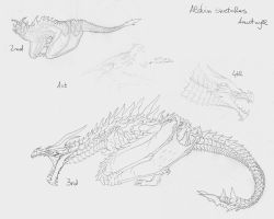 Alduin sketches by Anutwyll