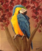 Blue-and-yellow macaw by Lisa-nne