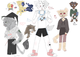 cheap-ish set price doodle adoptables (all closed) by luplne
