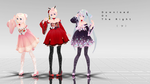 MMD TDA Miku, Rin Hanbok Dress DL -edited- by chulatt