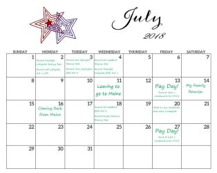 July 2018 Calendar by Starlight-Enterprise