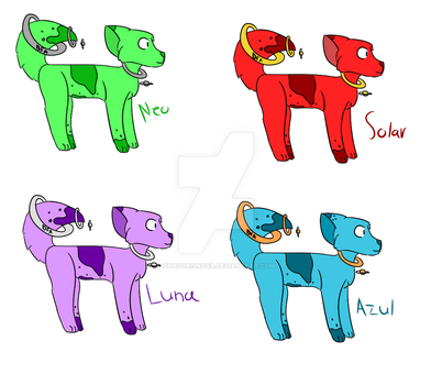 Saturn Pup Adopts by Dragonfoxart