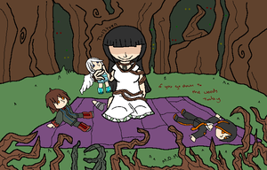 Alton Towers - Th13teen and her dolls by mitchika2