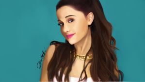 drawing Ariana Grande by syauqi09