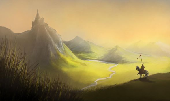 Speedpaint: Mountains by Kimmie1997