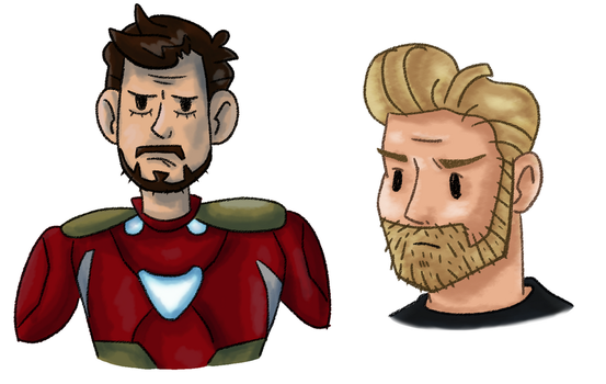 Tony and Steve sketches by WhiteWolfCub16