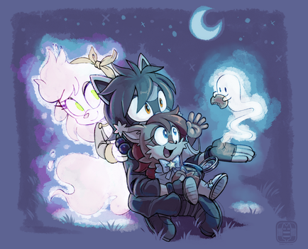 COM- Ghosties and Little Stars by CatbeeCache