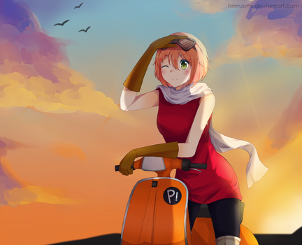 COMM: Sunset Journey by faeruumi
