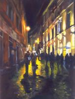 Roman the Streets-OIL PAINTING by AstridBruning