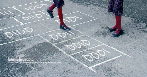 binary hopscotch by JeanFan