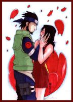 Asuma x Kurenai colored by pyrogina