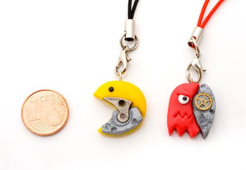 Steampunkpacman Charms by pongojam
