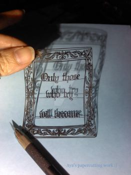 only those...(papercutting) by Thessatoria